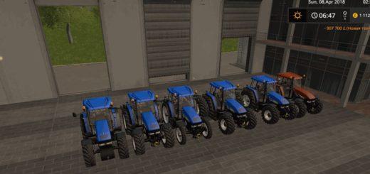 Мод трактор NEW HOLLAND TM 175/190 DH V1.0 Farming Simulator 2017
