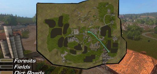 Мод карта OLD SLOVENIAN FARM V2.0.0.1 Farming Simulator 17