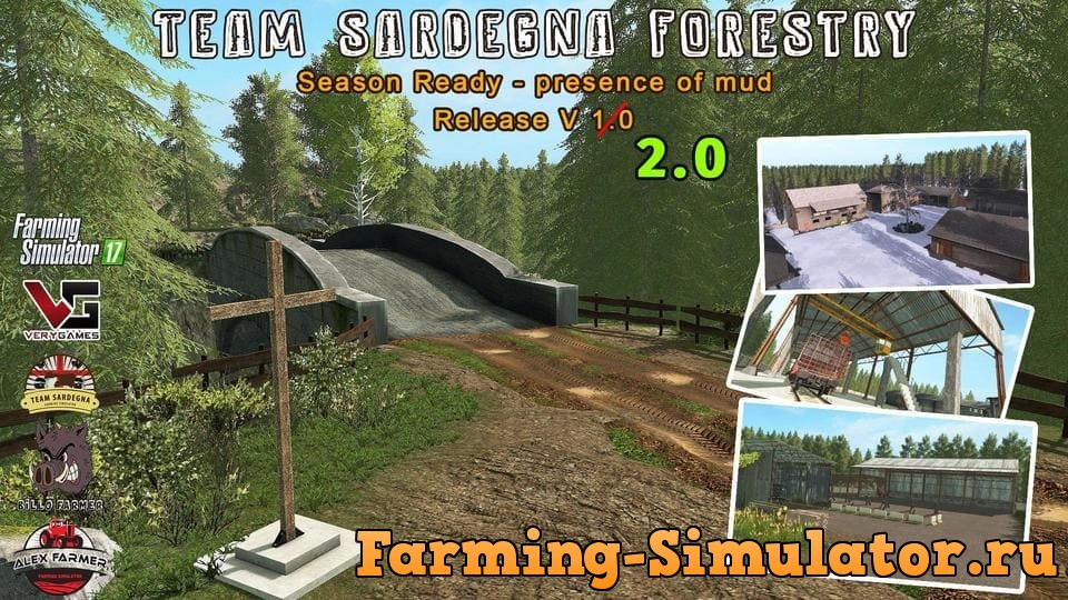 Мод карта FORESTRY - SEASON READY V2.0 Farming Simulator 17