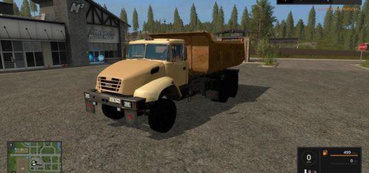 Мод грузовик КрАЗ 6510 v1.2 Фермер Симулятор 2017