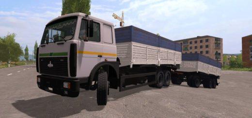 Мод грузовик МАЗ 6303 и прицеп v1.0 Фермер Симулятор 2017
