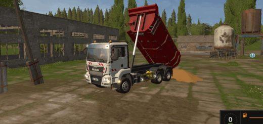 Мод грузовик MAN TGS 33.360 6x4BB Tipper v 1.1 Farming Simulator 2017