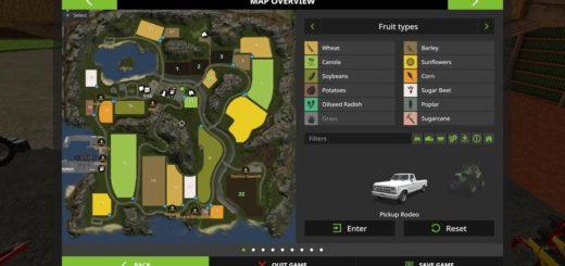 Мод карта THE NEW FARMING LEGENDS 2017 V1.0 Farming Simulator 2017