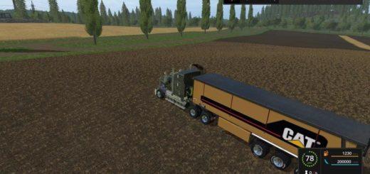 Мод прицеп CAT TRAILER BULK E1 V1.0 Farming Simulator 2017