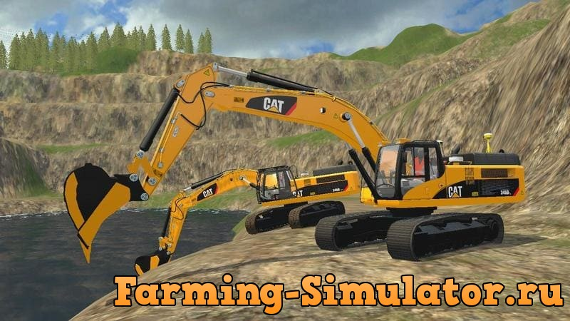 Мод ПАК CATERPILLAR 345D PACK V1.0.0.0 Farming Simulator 2017