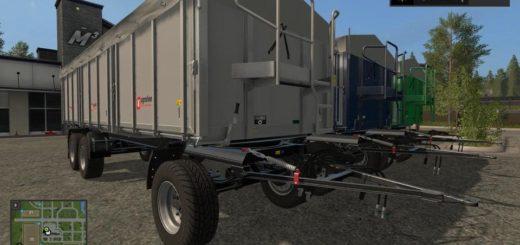 Мод прицеп Krampe Bandit 750 DH v2.0.0.0 Farming Simulator 17
