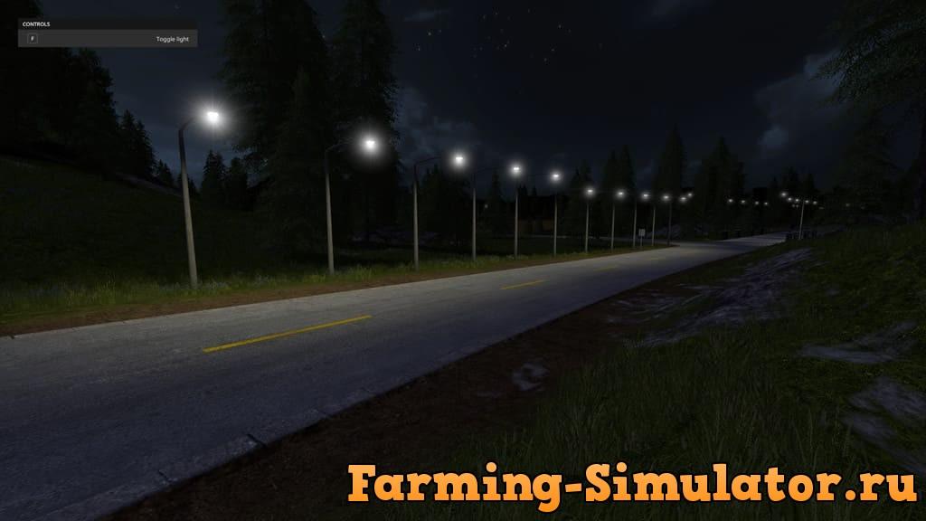 Мод ПАК фонарей MANUAL LIGHTS V1.0.0.0 Farming Simulator 2017