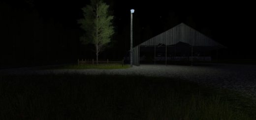 Мод PLACEABLE MERCURY VAPOR LIGHT V2.0 Farming Simulator 17
