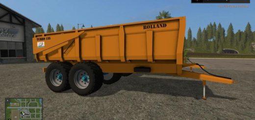 Мод прицеп ROLLAND TURBO135 V2.0 Farming Simulator 2017