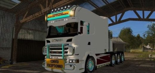 Мод грузовик Scania Longline v1.0.0 Farming Simulator 2017
