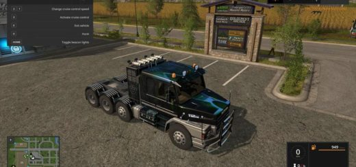 Мод тягач TOXIC SCANIA MULTIDECAL V1.1 Farming Simulator 17