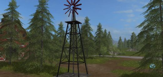 Мод WINDMILL WATERSUPPLY V1.0.0.0 Farming Simulator 2017