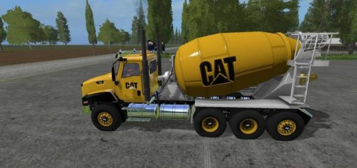 Мод грузовик CATERPILLAR CEMENT MIXER V1.0 Farming Simulator 17