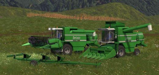 Мод комбайн DEUTZ-FAHR TOPLINER 4080 HTS V1.0.0 Farming Simulator 2017