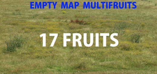 Мод чистая карта EMPTY MAP MULTIFRUITS V1.0 FS17