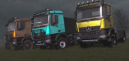 Мод грузовик MERCEDES AROCS AGRAR V1.2.0.0 Farming Simulator 17