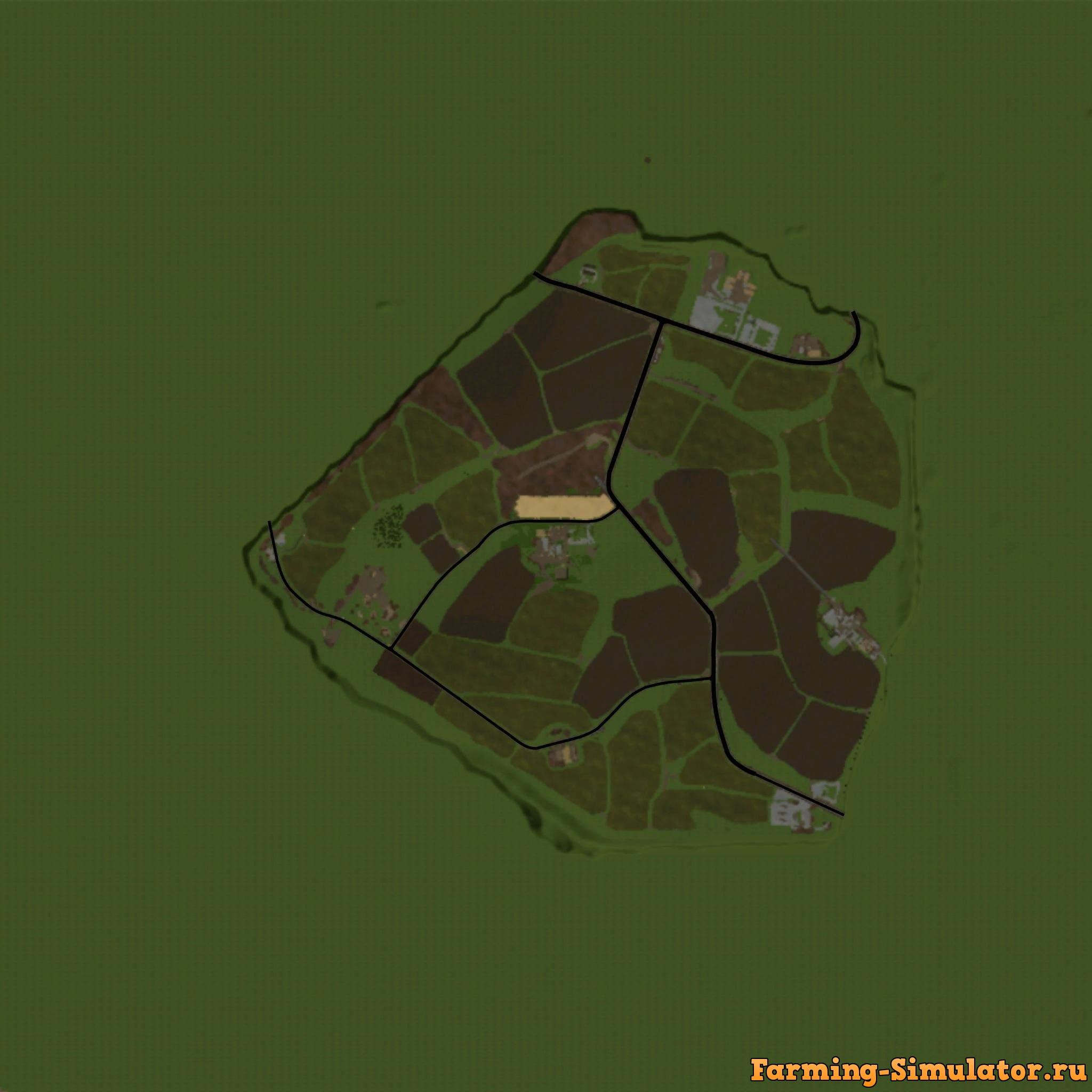 Мод карта NORTH STONE FARM V1.0.0.0 Farming Simulator 17