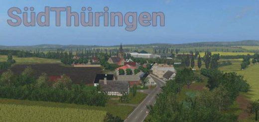 Карта SUDTHURINGEN MAP V3.0 для Farming Simulator 2017