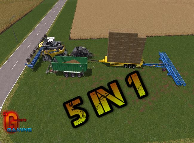 Мод 5 in 1 Harvester v1.0 Farming Simulator 17