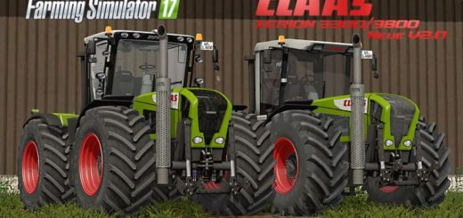 Мод трактор Claas Xerion 3300/3800 v 2.0 Finale Farming Simulator 17