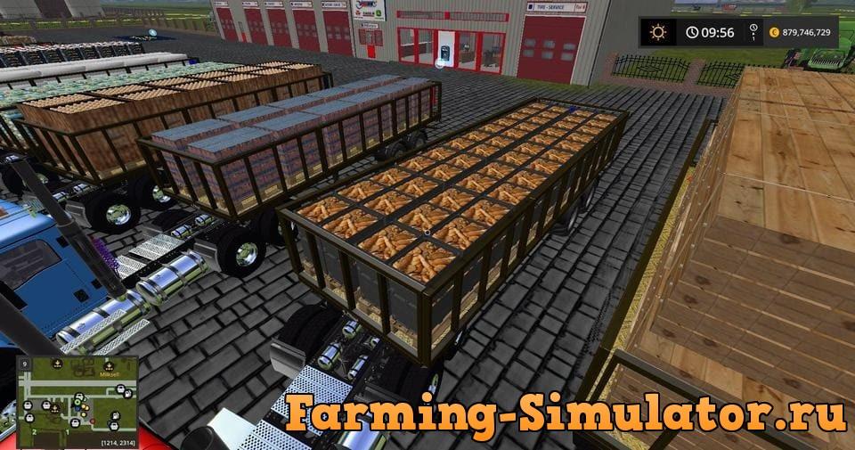 Мод ПАК прицепы Fliegl DPW180 Vaszics pack v 1.1 Farming Simulator 2017