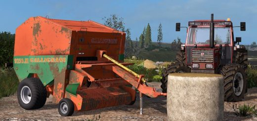 Мод тюкопресс GALLIGNANI 9250 SL V1.0.0.0 Farming Simulator 17