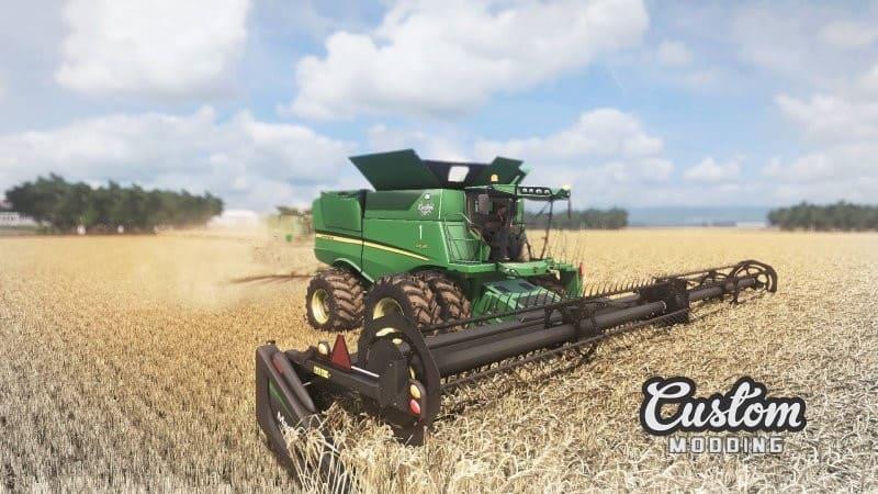 Мод комбайн JOHN DEERE S600 US VERSION MODEL 2012 V1.1 Farming Simulator 17