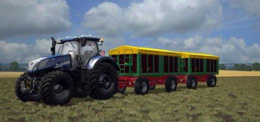 Мод ПАК прицепы KROGER HKD/TKD (302/402) V1.0 Farming Simulator 17