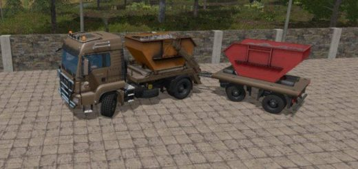 Мод ПАК MAN SKIP TRUCK WITH CONTAINER V1.0 Farming Simulator 2017