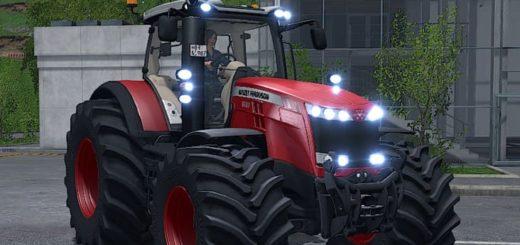 Мод трактор MASSEY FERGUSON 8700 BY ALEX BLUE V1.0.1.5 Farming Simulator 17