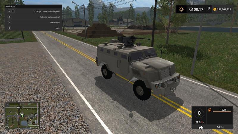 Мод бронетранспортер SPM3 V1.0 Farming Simulator 2017
