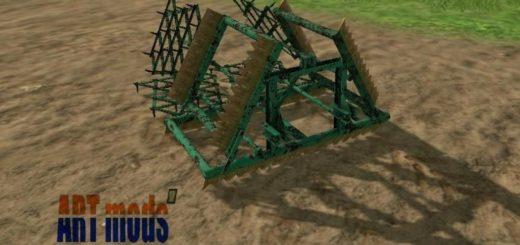 Мод культиватор Smykove brany 4m v1.0 Farming Simulator 17