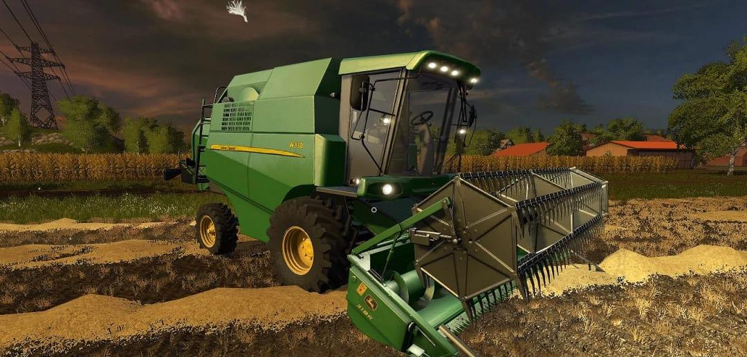 Мод комбайн John Deere W330 V1.0 Farming Simulator 2017