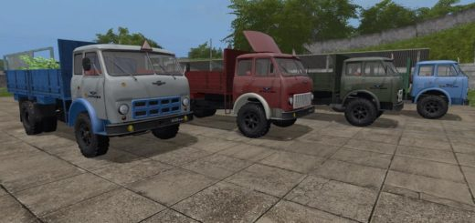 Мод грузовики МАЗ-500А Борт v1.0 Фарминг Симулятор 2017