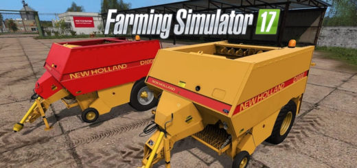 Мод тюкопресс New Holland D1000 v1.0 Farming Simulator 2017
