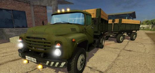 Мод грузовик ЗиЛ-130 + прицеп v1.1 Фермер Симулятор 2017