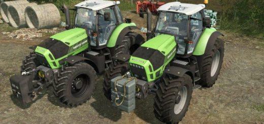 Мод трактор DEUTZ-FAHR AGROTRON X720 V1.1 Farming Simulator 17