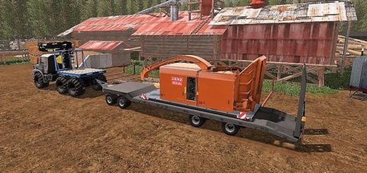 Мод трал FLIEGL 4ACHS TIEFLADER FINAL V2.1 Farming Simulator 17