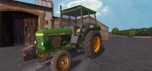 Мод трактор JOHN DEERE 2040S V1.1 FS17