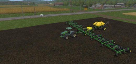 Мод ПАК JOHN DEERE 7930 TWINWHEELS & 1910 SEEDER V1.0 Farming Simulator 17