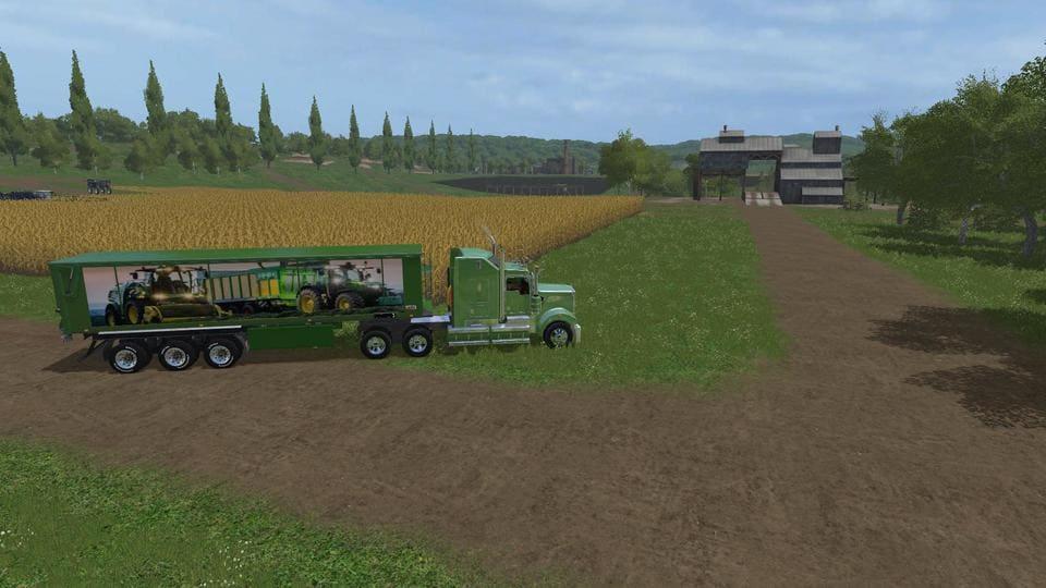 Мод прицеп JOHN DEERE TRAILER BULK V1.0 Farming Simulator 17