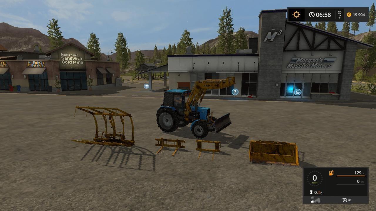 Мод трактор МТЗ MTZ 82.1 V1.1 Фермер Симулятор 2017