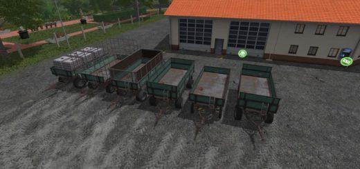 Мод ПАК прицепов MENGELE PACK V0.9.5 Farming Simulator 2017