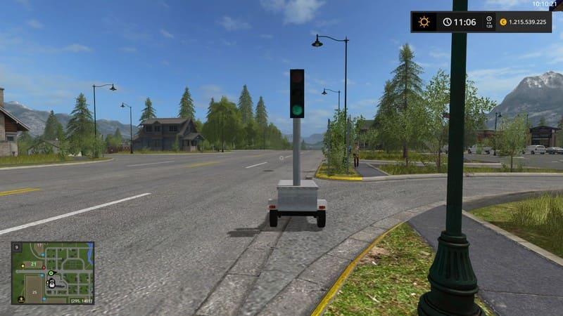 Мод светофор MOBILE TRAFFIC LIGHT V1.0 Farming Simulator 2017