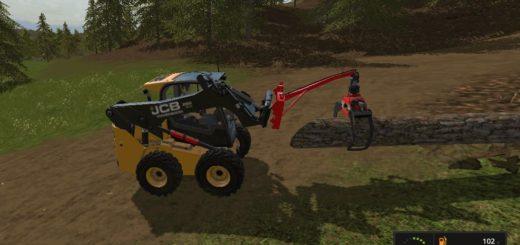 Мод захват для бревен SKIDSTEER LOG GRAB V1.1 Farming Simulator 17