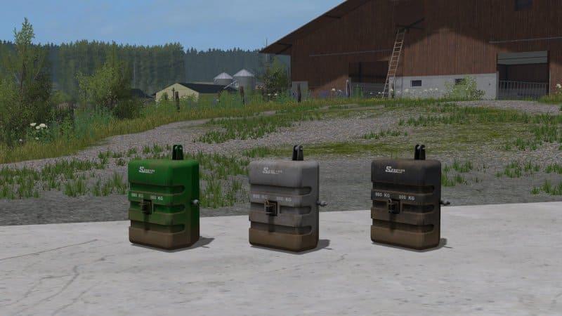Мод противовес SUER 800KG V1.1 Farming Simulator 17