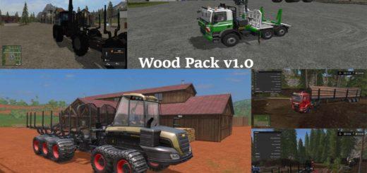 Мод ПАК WOOD PACK V1.1 Farming Simulator 17