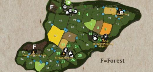 Мод карта GWENDDWR MAP V1.0.0.0 Farming Simulator 17