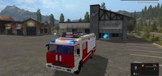 Мод Камаз 43253 Пожарка v 1.0 для Farming Simulator 2017