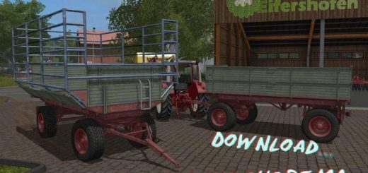 Мод прицеп KRONE EMSLAND BT UAL V1.0.1.0 Farming Simulator 17